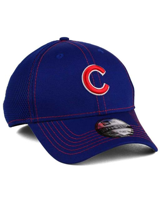 buy online b2d43 c91d8 ... where to buy ktz blue chicago cubs 2015 team color neo 39thirty cap for men  lyst