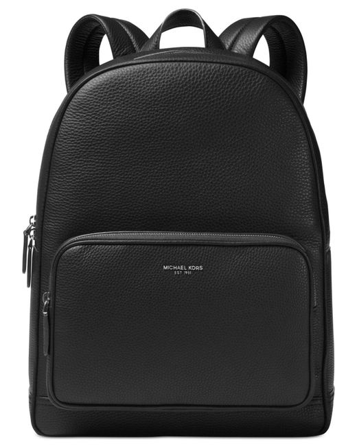 11e555ea9dd7 Michael Kors - Black Bryant Leather Backpack for Men - Lyst ...