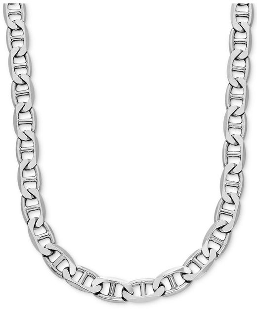 """Macy's Metallic Mariner Link 24"""" Chain Necklace In Sterling Silver"""