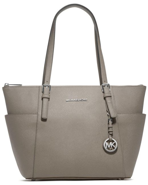 Michael Kors | Gray Michael Jet Set East West Top Zip Tote | Lyst