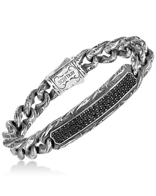 Scott Kay - Metallic Men's Black Sapphire Link Bracelet (3-1/4 Ct. T.w.) In Sterling Silver for Men - Lyst