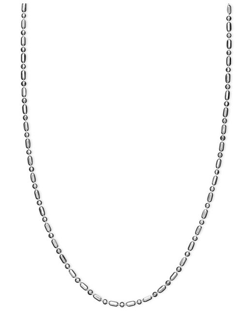 "Giani Bernini | Metallic Sterling Silver Necklace, 24"" Dot Dash Link 