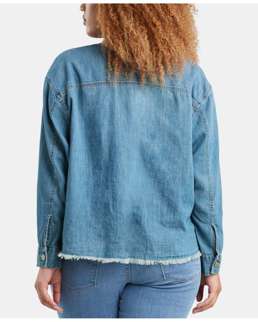 a3bf13f15e4 ... Levi s - Blue ® Plus Size Ash Jean Shirt - Lyst