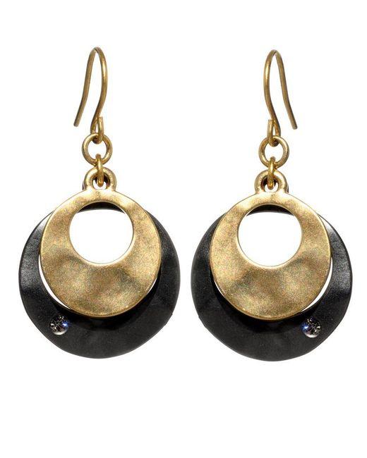 Kenneth Cole   Metallic Earrings, Round Orbit Drops   Lyst