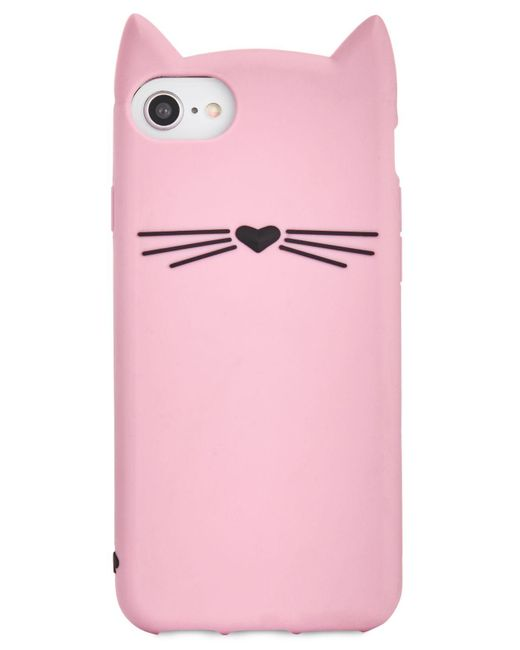 Kate Spade - Pink Silicone Cat Iphone 8 Case - Lyst