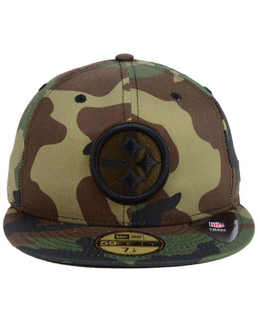 40b430fa3b1 ... KTZ - Green Pittsburgh Steelers Woodland Prism Pack 59fifty-fitted Cap  for Men - Lyst ...