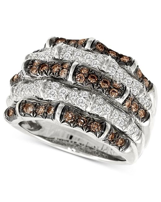 Le Vian | Metallic Diamond White And Chocolate Diamond (1-1/4 Ct. T.w.) In 14k White Gold | Lyst