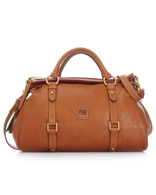 Dooney & Bourke | Brown Handbag, Florentine Vaccheta Satchel | Lyst
