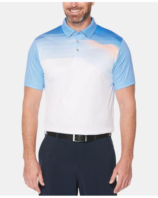 PGA TOUR - Blue Pixelated Polo for Men - Lyst