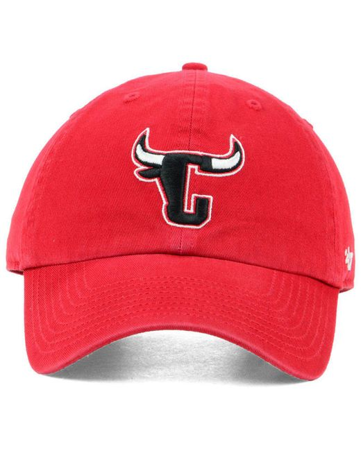 brand new ae062 e5f13 ... 47 Brand - Red Chicago Bulls Mash Up Clean Up Cap for Men - Lyst ...