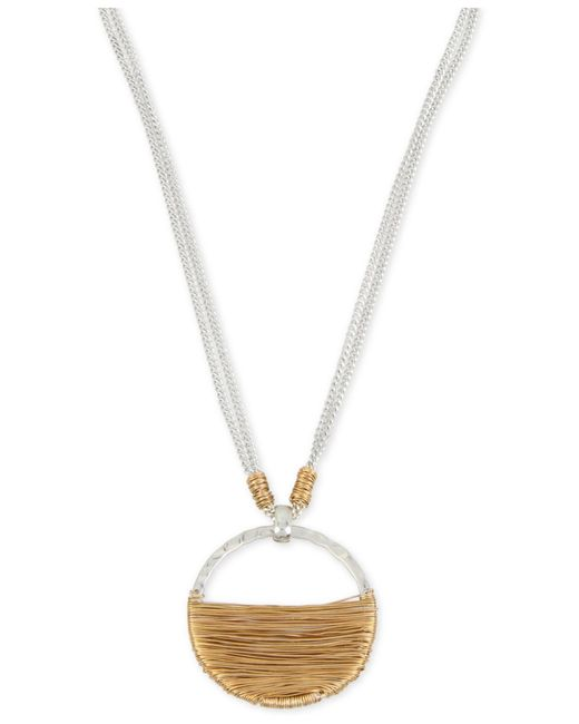 Robert Lee Morris | Metallic Two-tone Wire-wrapped Pendant Necklace | Lyst