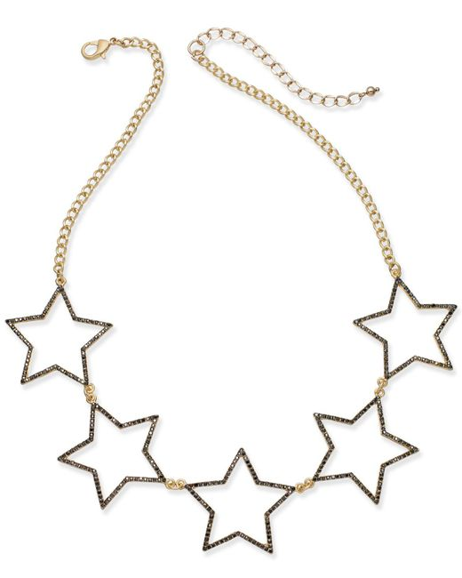 INC International Concepts - Metallic Five-star Statement Necklace - Lyst