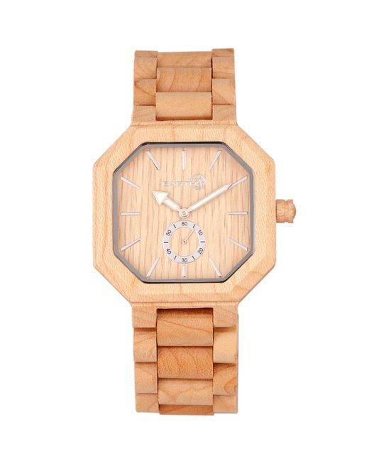 Earth Wood - Multicolor Acadia Wood Bracelet Watch Khaki 43mm - Lyst