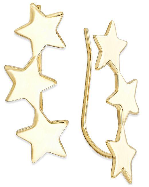 Macy's - Metallic Star Crawler Earrings In 14k Gold, 1 1/4 Inch - Lyst