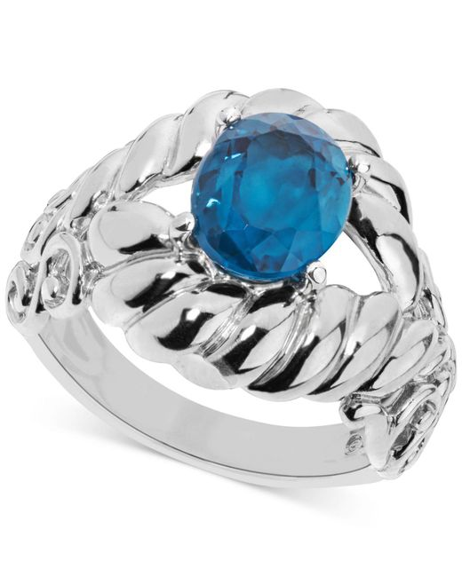 Carolyn Pollack - Blue Topaz Rope-style Ring (2-9/10 Ct. T.w.) In Sterling Silver - Lyst