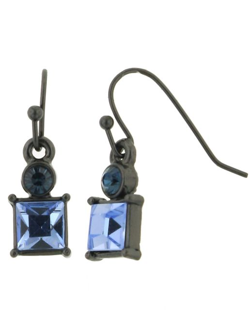 2028 | Blue Earrings, Montana Crystal Square Earrings | Lyst