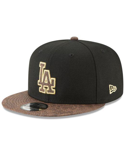 info for 06979 9974a KTZ - Black Los Angeles Dodgers Gold Snake 9fifty Snapback Cap for Men -  Lyst ...