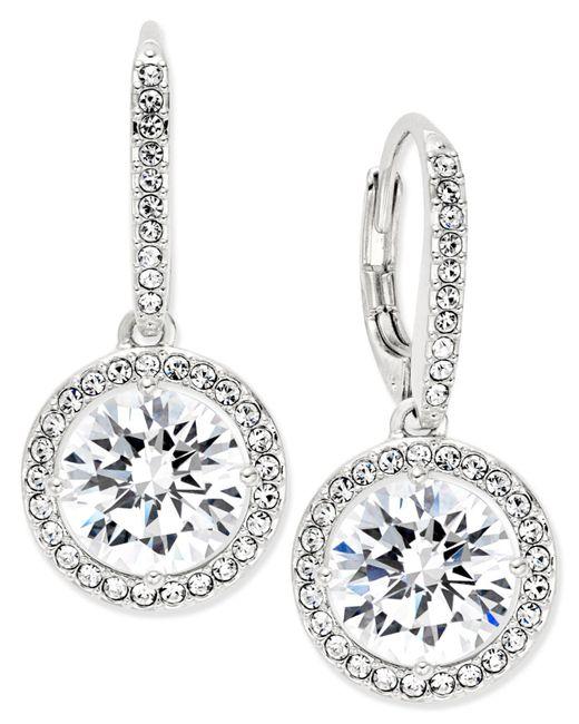 Danori - Metallic Silver-tone Crystal Drop Earrings - Lyst