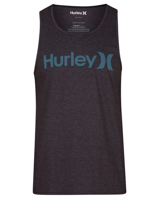 Hurley - Black One And Only Logo-print Tank - Lyst