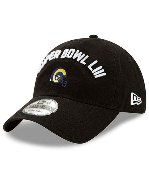 new style 09f33 ddcfc ... KTZ - Black Los Angeles Rams Super Bowl Liii Participant 9twenty  Adjustable Cap for Men ...
