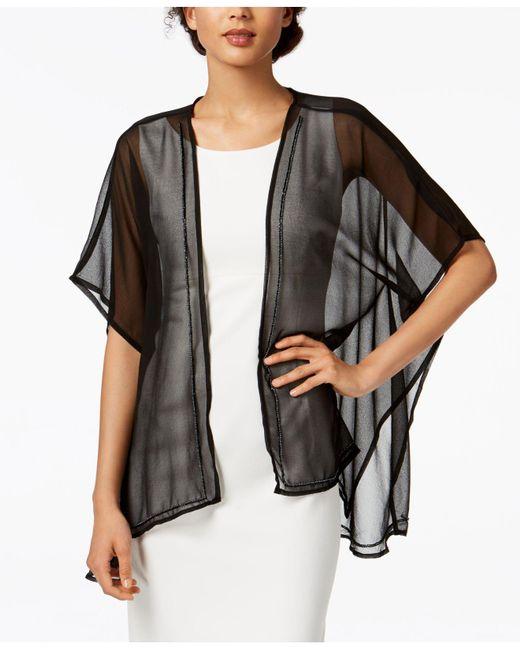 INC International Concepts - Black Bead-trim Kimono, Created For Macy's - Lyst