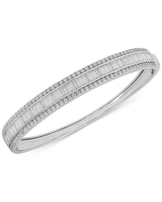 Macy's - Metallic Arabella Swarovski Zirconia Bangle Bracelet In Sterling Silver - Lyst