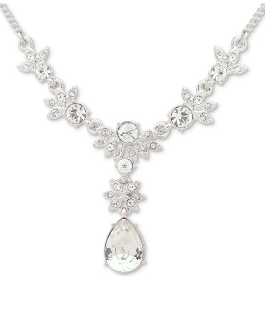 Givenchy   Metallic Crystal Lariat Necklace   Lyst