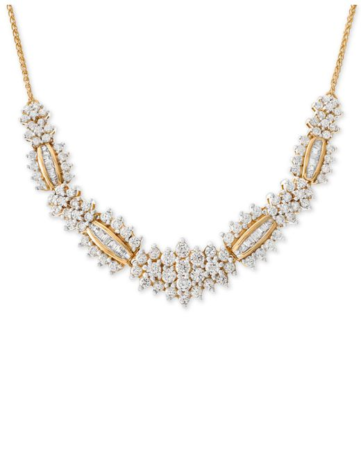 Wrapped in Love - Metallic Tm Diamond Statement Necklace (2-1/2 Ct. T.w.) In 14k Gold, Created For Macy's - Lyst