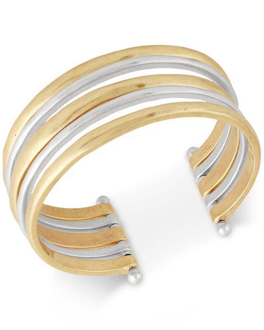 Lucky Brand | Metallic Two-tone Multi-row Cuff Bracelet | Lyst