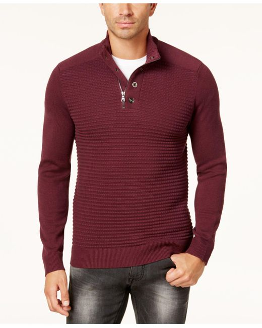 INC International Concepts | Red Men's Quarter-zip Sweater for Men | Lyst