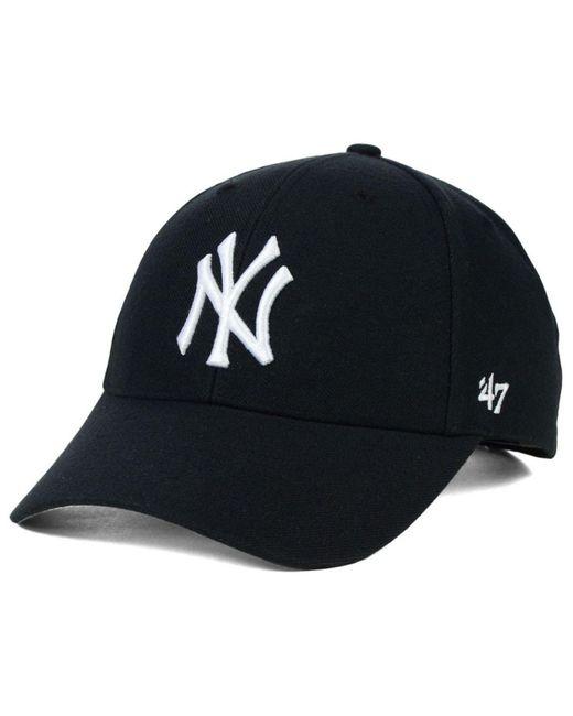 47 Brand - Black New York Yankees Mvp Curved Cap for Men - Lyst