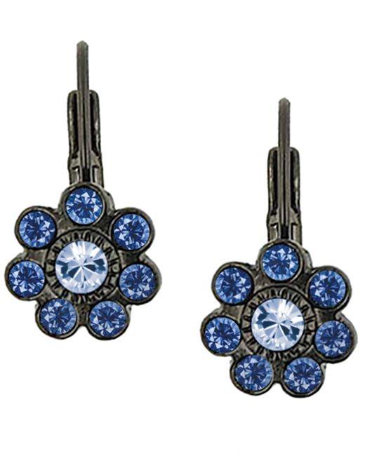 2028 | Earrings, Blue Crystal Leverback Earrings | Lyst
