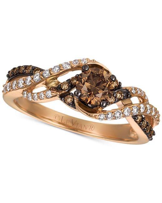 Le Vian - Metallic Chocolatier® Gladiator Weavetm Diamond Ring (3/4 Ct. T.w.) In 14k Rose Gold - Lyst