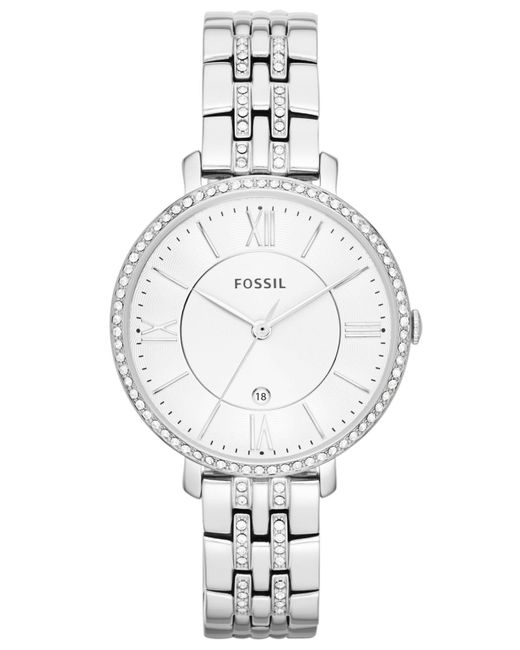 Fossil Gray Women's Jacqueline Stainless Steel Bracelet Watch 36mm Es3545