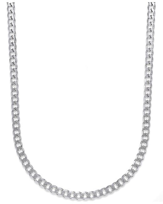 Macy's - Metallic Men's Curb Chain Necklace In Sterling Silver for Men - Lyst