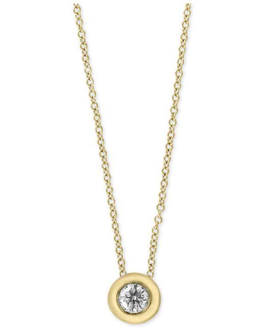 Effy Collection - Metallic Diamond Bezel Solitaire Pendant Necklace (1/5 Ct. T.w.) - Lyst