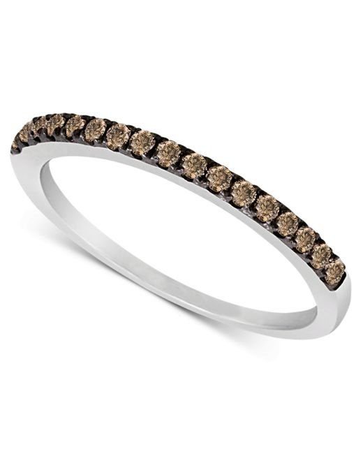 Le Vian | Metallic Chocolate Diamond Pave Band (1/4 Ct. T.w.) In 14k White Gold | Lyst