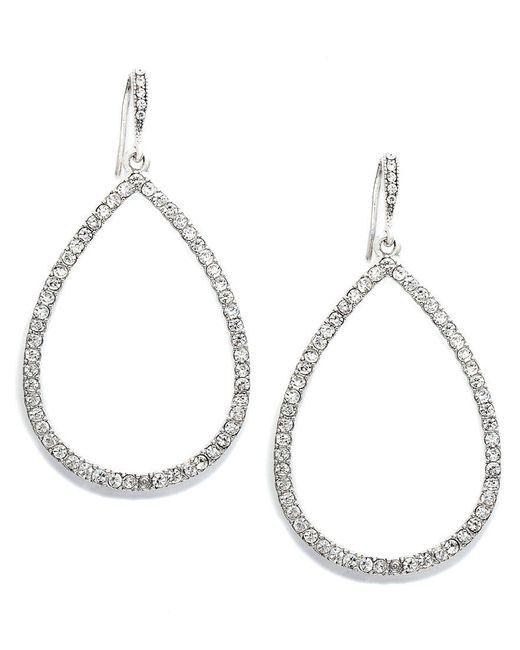 Lauren by Ralph Lauren | Metallic Crystal Teardrop Earrings | Lyst