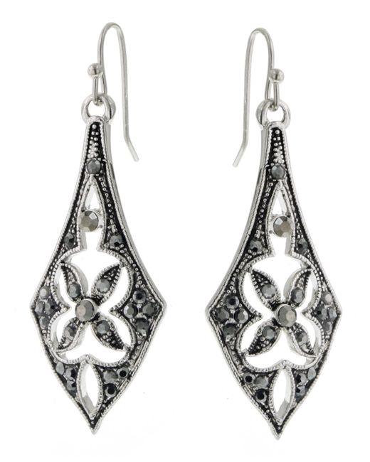 2028 | Metallic Earrings, Silver-tone Linear Drop Earrings | Lyst