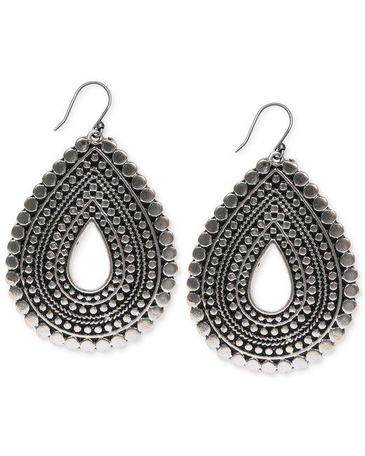 Lucky Brand - Metallic Silver-tone Teardrop Earrings - Lyst