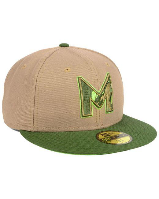 wholesale dealer 790d9 c368b ... KTZ - Green Minnesota Timberwolves Fall 2 Tone Combo 59fifty-fitted Cap  for Men ...