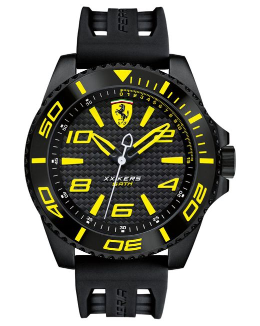 Ferrari - Men's Xx Kers Black Silicone Strap Watch 50mm 830307 for Men - Lyst