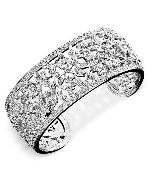 Danori - Metallic Eliot Crystal Floral Cuff Bracelet - Lyst