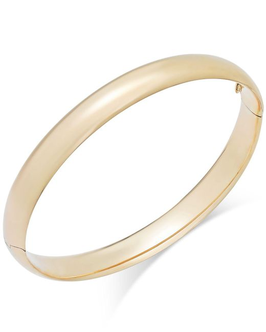 Macy's - Metallic High Polish Bangle Bracelet In 14k Gold - Lyst