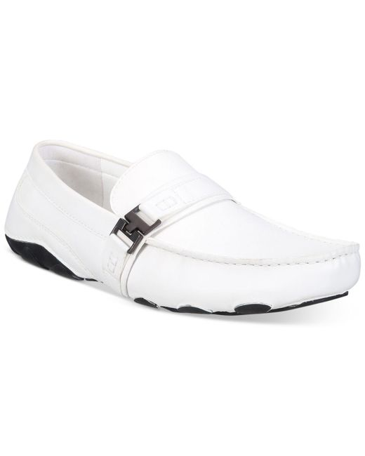 Kenneth Cole Reaction - White Men's Leather Toast 2 Me Drivers for Men - Lyst