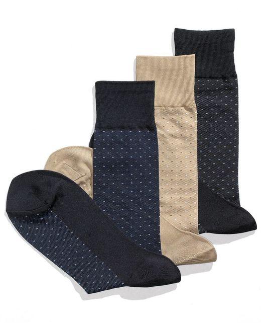 Perry Ellis | Blue Ellis Socks, Pin Dot Socks for Men | Lyst