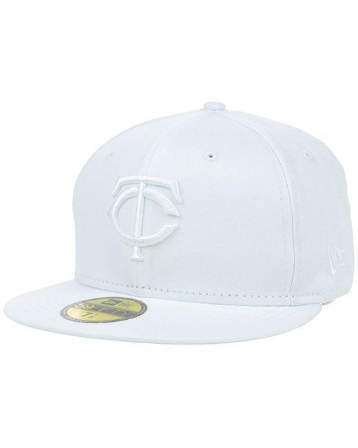 KTZ - Minnesota Twins White-on-white 59fifty Cap for Men - Lyst