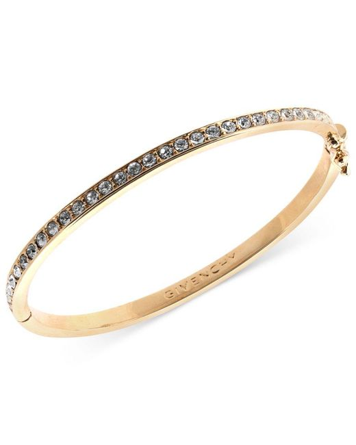 Givenchy | Metallic Bracelet, Silk Swarovski Element Bangle | Lyst