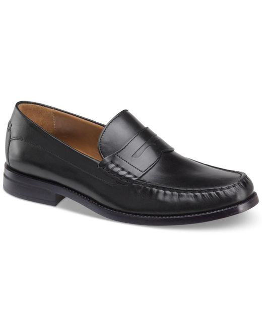 Johnston & Murphy - Black Chadwell Penny Moc-toe Slip-on Loafers for Men - Lyst
