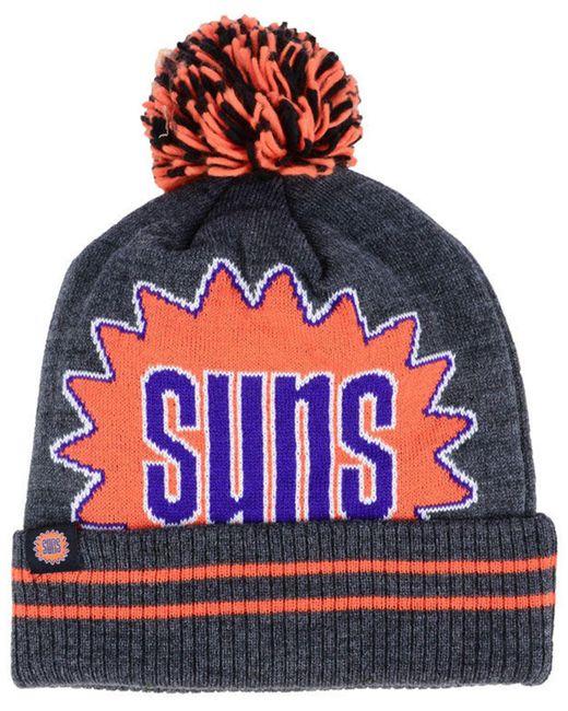 brand new a06af 12ddf hot mitchell ness gray phoenix suns black heather hi 5 pom knit for men  0bbea 93d8d